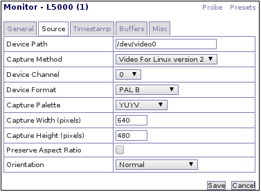 Zoneminder Installation on Debian with Logitech QuickCam Pro 5000