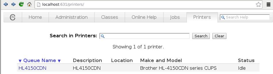 Setup Brother HL-4150CDN Printer with CUPS on a 64-bit